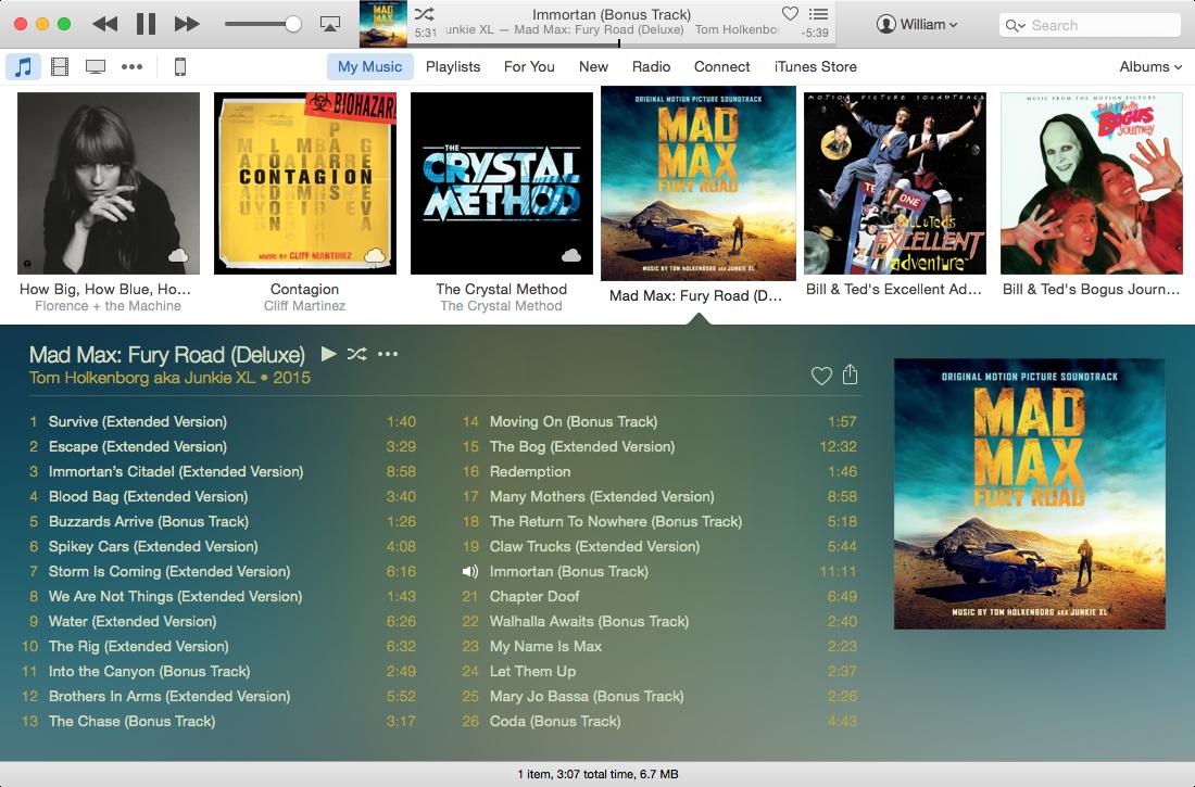 OS X iTunes